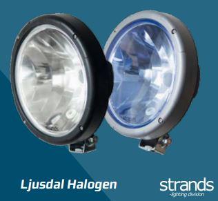 Ljusdal Halogen Sininen lasi, Strands-light division
