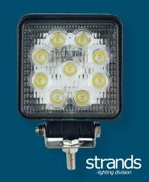 Led-työvalo 27 W leveä, Strands-light division