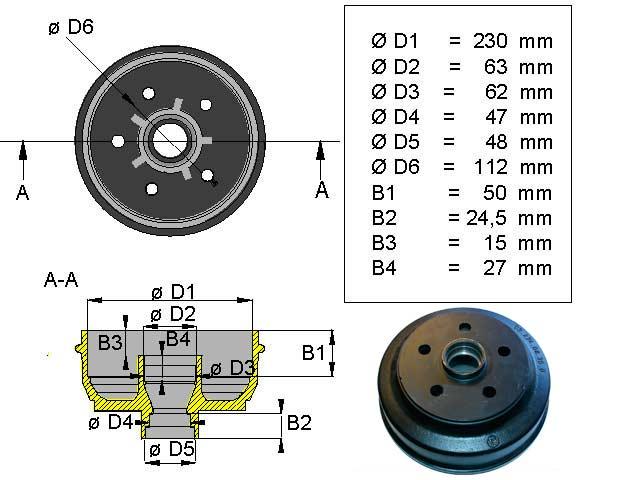 Jarrurumpu 200*50 Bpw 5*112 kompakti laakeri