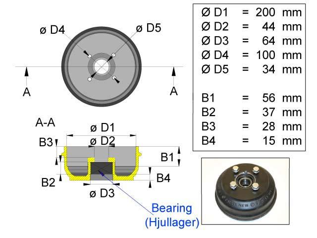 Jarrurumpu Bpw 200*50 4*100 kompakti laakeri