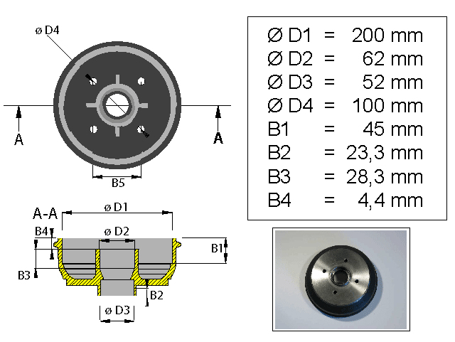 Jarrurumpu 200*35 Bpw 4*100 kompakti laakeri