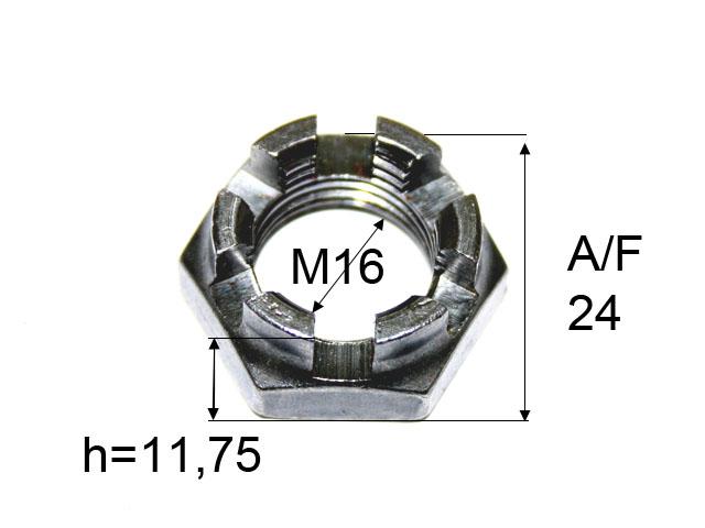 Kruunumutteri M16*1,5