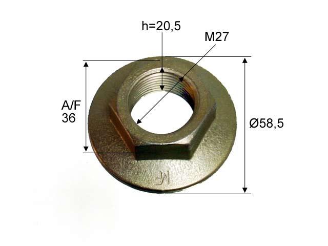 Kruunumutteri laipallinen M27*2 C