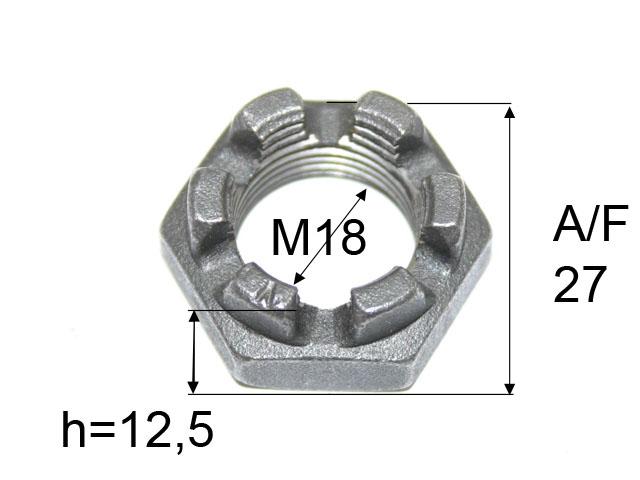 Kruunumutteri M18*1,5
