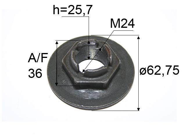 Kruunumutteri laipallinen M24*1,5 C