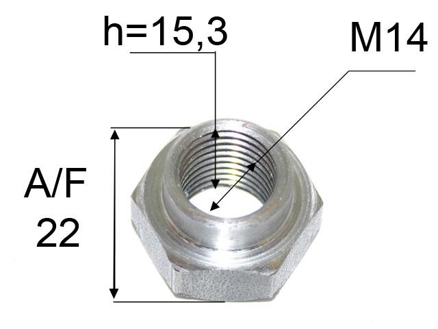 Kruunumutteri M14*1,5