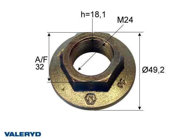 Kruunumutteri M24*1,5 universal