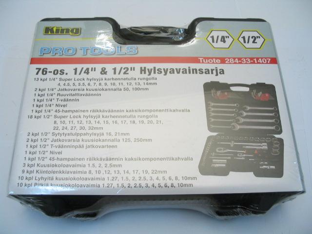 """HYLSYSARJA 1/4""""&1/2"""" 76-OS"""