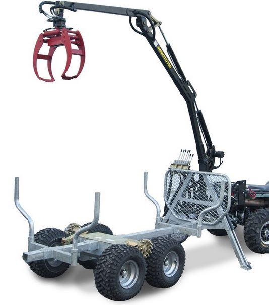 Tukkikärry ATV Grapple Crane 350-I ja 350-II Bronco