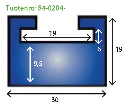 LIUKUKISKO 0204 AC MUSTA gfafiitti (Kts. 84-0202-15)