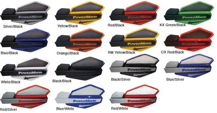 POWERMADD HANDGUARDS YELLOW/BLACK