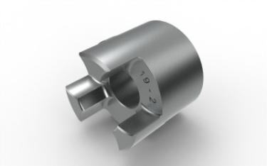 HWN 19 T2 Alumiini Akselikytkin paksunapa