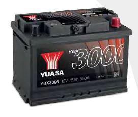 YBX3075 12V 60Ah 550A Yuasa SMF AKKU