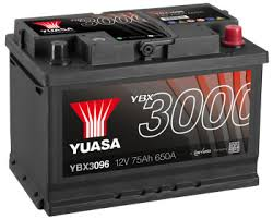 YBX3096 12V 75Ah 650A Yuasa SMF AKKU