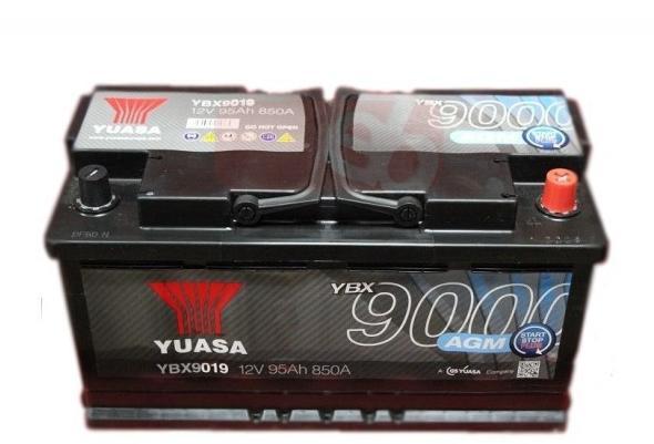 YBX9019 12V 95Ah 850A Yuasa AGM Start Stop Plus AKKU